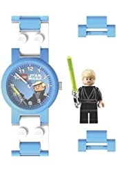 LEGO Kids' 2907STWLS Star Wars Luke Skywalker Plastic Watch with Link Bracelet
