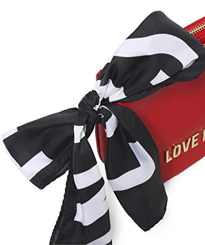 de bolso la lazo bufanda de Rojo Love de Moschino hombro insignia Mujeres Moschino Rojo nzxBvaUAqw