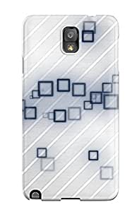 High Grade MeaganSCleveland Flexible Tpu Case For Galaxy Note 3 - Square