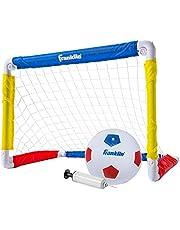 Franklin Sports - Juego de Mini portería de fútbol para niños, para Patio, Interior, Mini Red y Pelota con Bomba, portátil, Plegable, Juego de portería de fútbol Juvenil, 24 x 16 Pulgadas