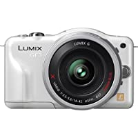 Panasonic Lumix DMC-GF3XW 12.1 MP Micro Four Thirds Compact System Camera with 3-Inch Touch-Screen LCD and LUMIX G X Vario PZ 14-42mm/F3.5-5.6 Lens (White)