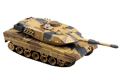 M1a2 Abrams Battle Tank (POCO DIVO 2.4Ghz Abrams M1A2 Tank Infrared Battle Panzer RC 1/36 Military Vehicle - Desert Camouflage)