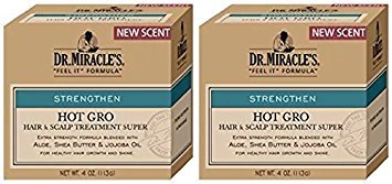 Dr. Miracle's Feel It Formula Hot Gro, Hair & Scalp Treatment Conditioner, Super Strength, 4 oz. (2 Pack) by Dr. Miracle's