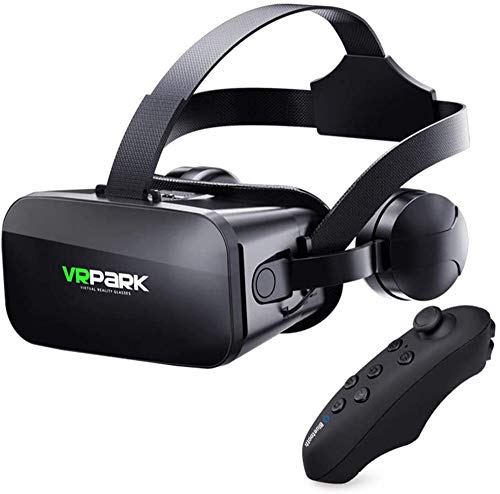 WellingA J20 VR Headset Compatible with iPhone & Android Phone Universal Virtual Reality Goggles Play Your Best Mobile…