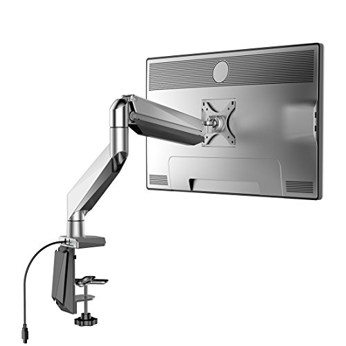 Loctek D7R Swivel Gas Spring Single LCD Arm Stand monitor Mount, Supports monitors weighing 8.8-22 lbs.