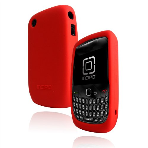 Dermashot Incipio Silicone Case - Incipio Technologies DermaShot Silicon Case for BlackBerry Curve 8500 Series (Molina Red)