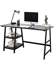 Soges Computer Desk 55inches PC Desk Office Desk with Shelf Workstation for Home Office Use Writing Table 3 Colors