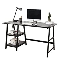 Soges Computer Desk 47 PC Desk Office Desk with Shelf Workstation for Home Office Use Writing Table