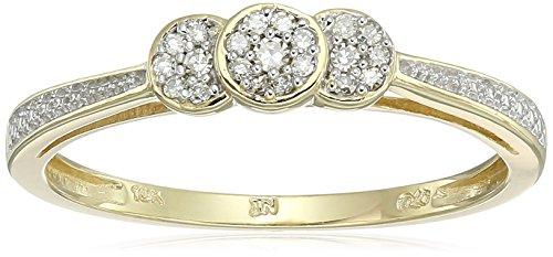 Yellow Gold White Diamond Ring