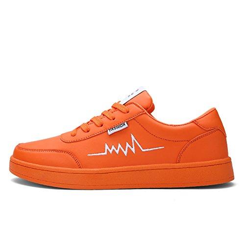 Führershow Herrenmode Breathable Skate Schuh Casual Sport Lace Up Sneaker Orange