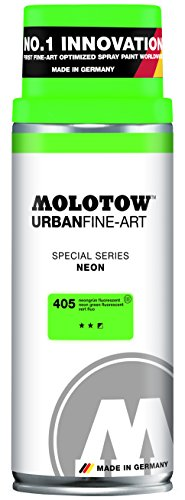 Molotow Urban Fine Art Acrylic Spray Paint, Neon Green, 400ML Can, 1 ()