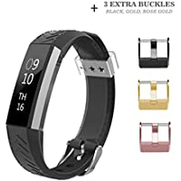 Fitbit Alta HR and Alta Band, AIUNIT Fitbit Alta Accessories Bands Watch Buckle Design Replacement Bands Small...