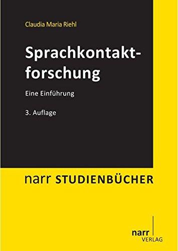 Sprachkontaktforschung: Eine Einführung (Narr Studienbücher) Taschenbuch – 11. Dezember 2013 Claudia M. Riehl Narr Francke Attempto 3823368265 für die Hochschulausbildung