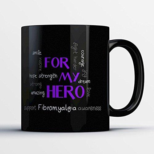 Lymphoma Ceramic Travel Mug (Awareness Mug - Fibromyalgia Awareness)