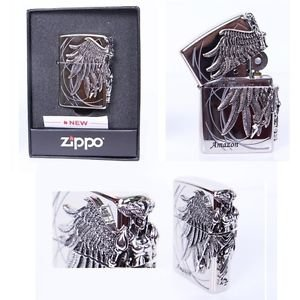 Zippo Amazon nickel Made in USA /GENUINE and ORIGINAL Packing