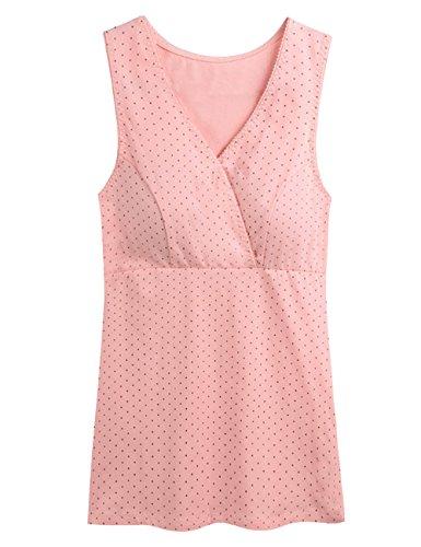 Novias Boutique - Sujetador premamá y de lactancia - para mujer Grey+Pink Dot/2pcs