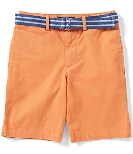 Polo Ralph Lauren Childrenswear Suffield Belted Stretch Chino Short (2 Little Kids, Orange)