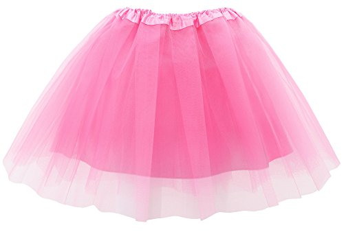 Toppers Adult Womens Tutu 4 Layered Cosplay Party Tulle Ballet Skirt