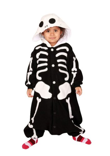Skeleton Kids Kigurumi (2-5 (The Second Doctor Costume)