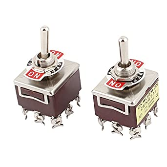 uxcell a15062200ux0729 9 screw on-off-on 3 position 3pdt toggle switch, ac  250v, 15 amp, 380v, 10 amp, 2 piece: amazon com: industrial & scientific