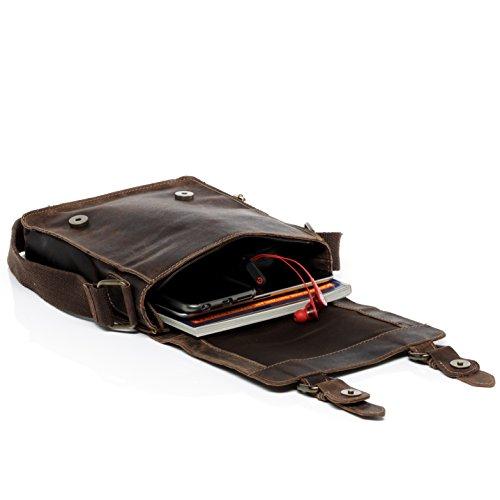 Sid Women tan Leather Light Brown body Bag amp; Small Cross Kerby Unisex Men Vain Messenger Real Shoulder rOrBqvw