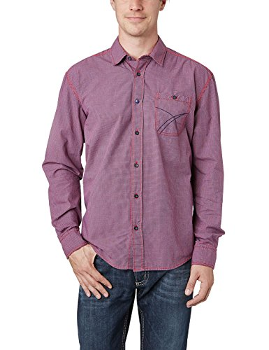 Pioneer MEN Shirt-Camisa Hombre, Rot (true red 805)