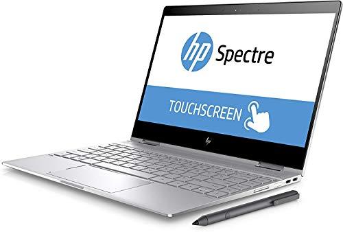 "HP Spectre X360 13.3"" FHD IPS 2-in-1 Touchscreen Laptop 2019 Flagship, Intel Quad-Core i7-8550U 8GB DDR4 256GB PCIe NMVe SSD ThunderboltBacklit Keyboard Win Ink Stylus Pen Fingerprint Reader Win 10"
