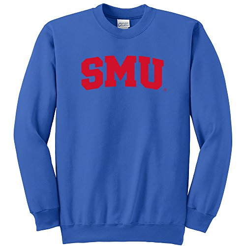 NCAA SMU Mustangs Youth Crewneck Sweatshirt, Medium, Royal