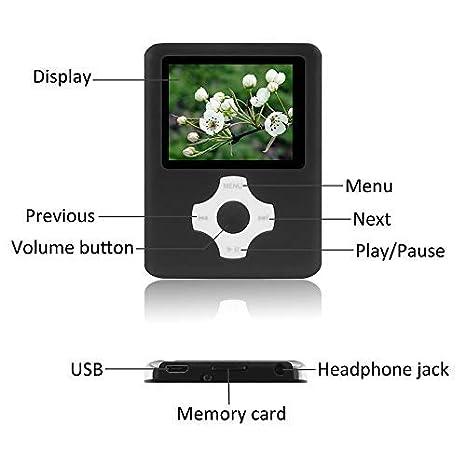 Reproductor de MP3 MP4 de 16 GB con Ranura para Tarjeta ...