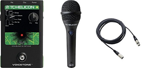 TC Helicon VoiceTone D1 and TC MP75 Mic and Cable Bundle by TC Electronics