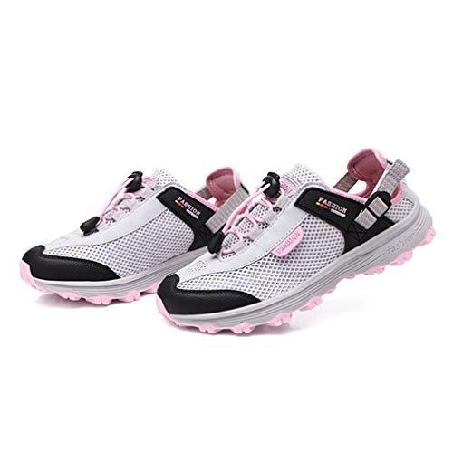 Women's Running Trail Anti Lightweight Casual Outdoor pink Slip Shoes Hiker Gray Mesh Climbing Shoes Hiking GIY d0wxYqd