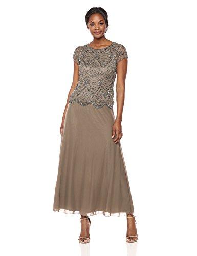Pisarro Nights Women's Short Sleeve Long 4, Mocha, 4