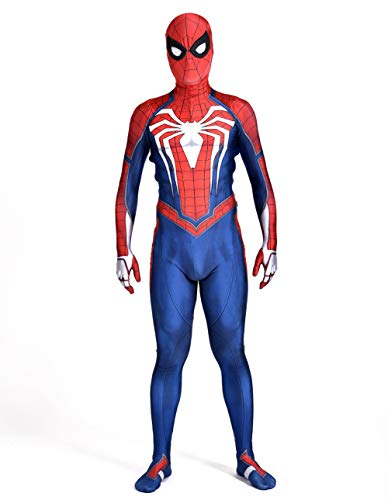 (TUJHGF Children Spiderman Cosplay Costume Leotard One Piece Halloween Christmas Party Movie Props,B-150-160cm)