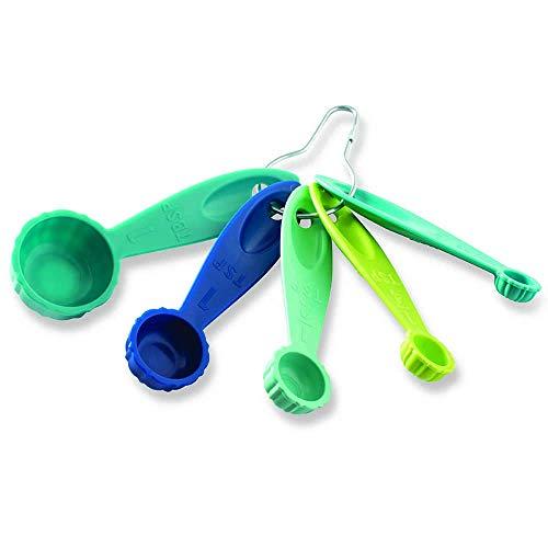 Nordic Ware 1156 Bundt Measuring Spoons, Set of 5, Coastal Colors (Fun Factory Bowl)