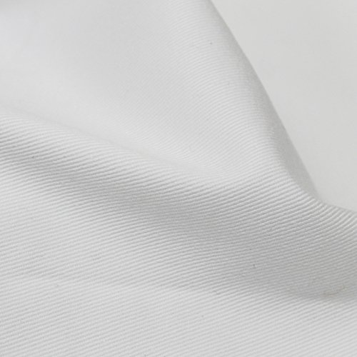 White Stretch Denim Fabric - 5