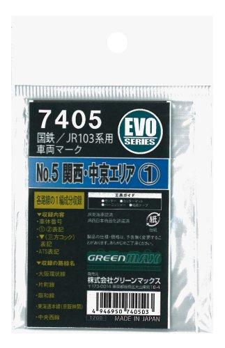 グリーンマックス Nゲージ 7405 国鉄/JR 103系用車両マークNo.5[関西・中京エリア1]