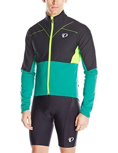 (Pearl Izumi - Ride Pro Pursuit Softshell Jacket, Black/Pepper Green, Large)