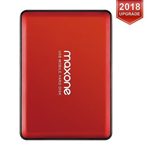 "Hard Disk Esterno Portatile da 2,5""da 320GB USB3.0 HDD Storage per PC, Mac, Desktop, Laptop, MacBook, Chromebook, Xbox One, Xbox 360, PS4, PS4 PRO, PS4 Slim (Rosso)"