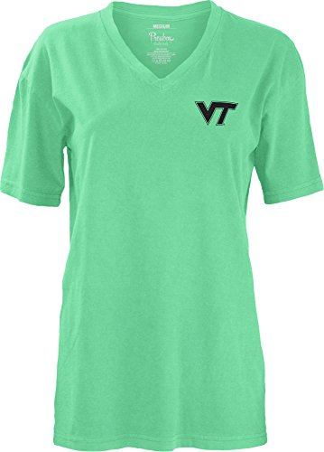 NCAA Virginia Tech Hokies Smitten V-Neck Short Sleeve T-Shirt, X-Large (Square Tech Logo Virginia)