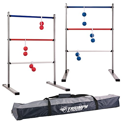 Triumph All Pro Series Press Fit Outdoor Ladderball Set Includes 6 Soft Ball Bolas and Durable Sport Carry Bag