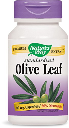 Nature's Way Olive Leaf 20% Oleuropein, 60 Vcaps (Natures Way Extract)