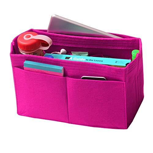 JennyKrafts Purse Insert (3mm Felt, Open Pockets, Water Bottle Holder), Tote Bag Organizer Pockets from JennyKrafts