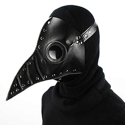 Halloween Costumes Tutorials (Plague beak Doctor Mask Bird Beak Spike Leather Steampunk Steam Punk Gothic Halloween LARP Cosplay (style D))