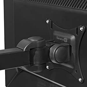 "Seneca AV SD12 Dual Arm Full Motion Desktop Monitor Mount for 13""-27"" Screens - 16"" Extension, 180 degree Pan, 360 degree Swivel, 90 degree Tilt - VESA Compliant"