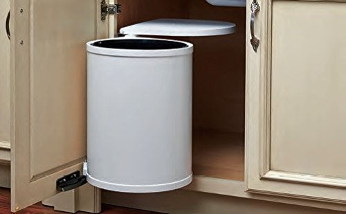 8-010/8-700 SERIES Round Pivot-Out Waste Containers (Individual Pack) 20 L Sink Base Container