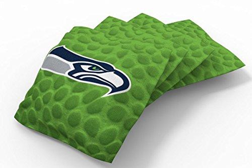 PROLINE 6x6 NFL Seattle Seahawks Cornhole Bean Bags - Pigskin Design (B)