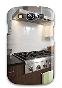 New Arrival Case Cover With CVQwoLd11413xHHhY Design For Galaxy S3- Kitchen With Black Countertops And Stainless Steel Gas Range
