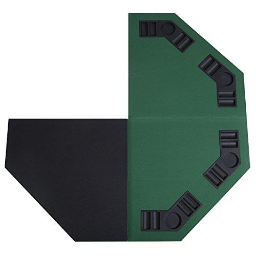 Giantex 48 Folding Poker Table Top Green Octagon 8 Player