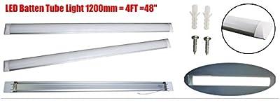 10er Surface mounted LED Batten Tube Lights, 1.2m 4ft, 3000lm, 6000K Day white, 2er pack