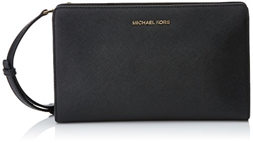 MICHAEL Michael Kors Women's Large Cross Body Clutch, Black, One Size by MICHAEL Michael Kors